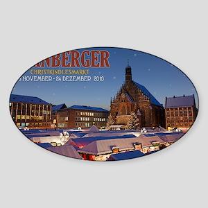 Nurnberg - Christkindlmarkt Night L Sticker (Oval)