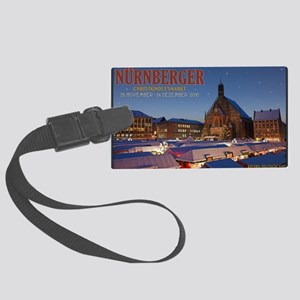 Nurnberg - Christkindlmarkt Nigh Large Luggage Tag