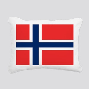 Flag of Norway Rectangular Canvas Pillow
