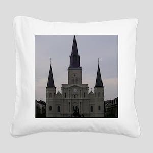 Saint Louis Catheral Square Canvas Pillow