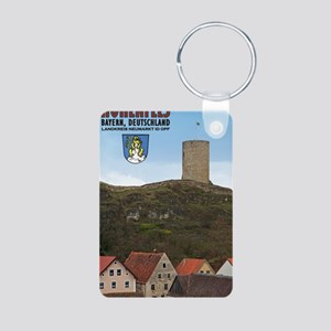 Hohenfels Tower Aluminum Photo Keychain