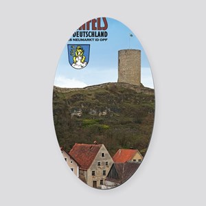 Hohenfels Tower Oval Car Magnet