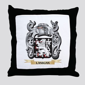 Lanigan Coat of Arms - Family Crest Throw Pillow