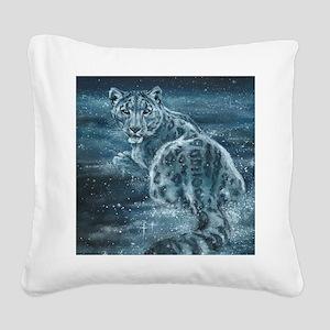 Star Leopard Square Canvas Pillow