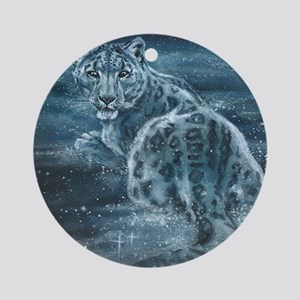 Star Leopard Round Ornament
