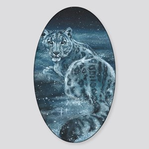 Star Leopard Sticker (Oval)
