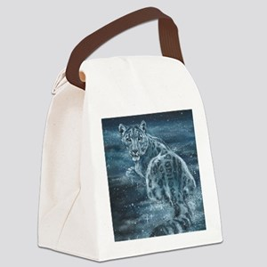 Star Leopard Canvas Lunch Bag