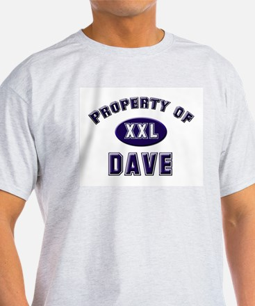 Property of dave Ash Grey T-Shirt