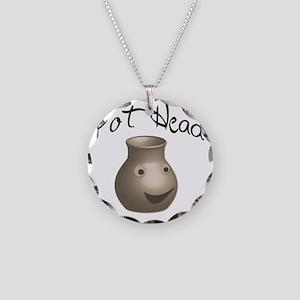 pot-head Necklace Circle Charm