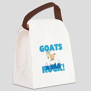 Goats rock! Canvas Lunch Bag