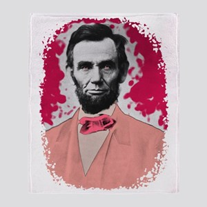 Pink_Lincoln Throw Blanket