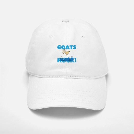Goats rock! Baseball Baseball Cap