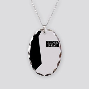 MORMON MISSIONARY SHIRT Necklace Oval Charm