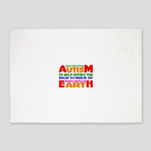 Autism 5'x7'Area Rug
