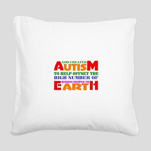 Autism Square Canvas Pillow