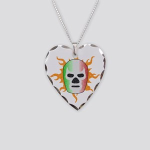 luchador-mask Necklace Heart Charm