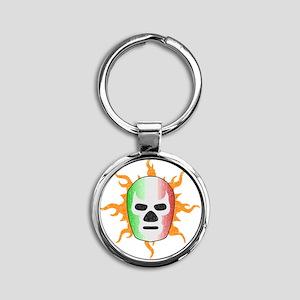 luchador-mask Round Keychain