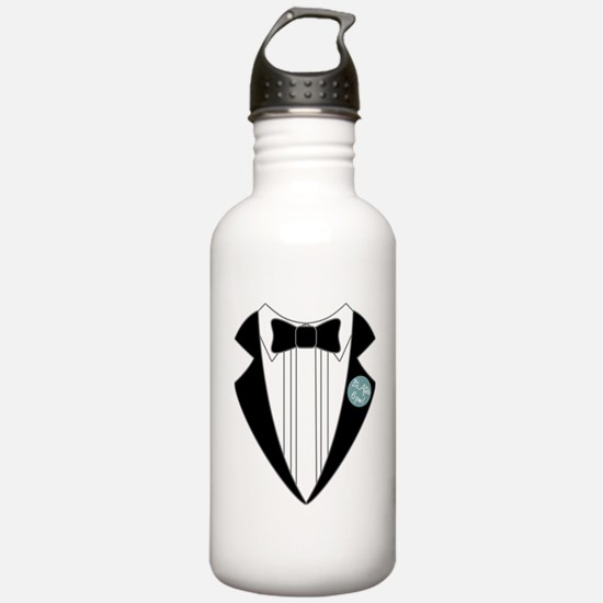 tux-shirt-after-6pm Water Bottle