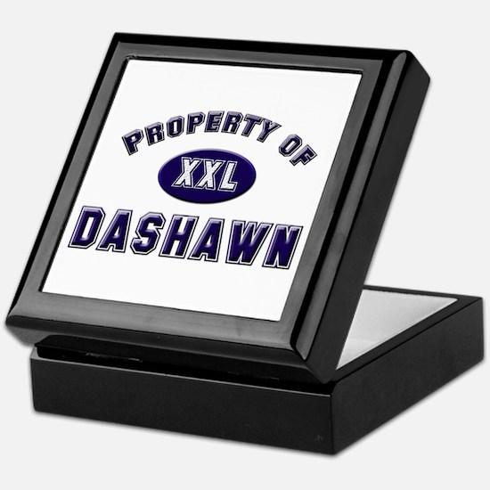 Property of dashawn Keepsake Box