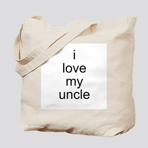 i love my uncle Tote Bag