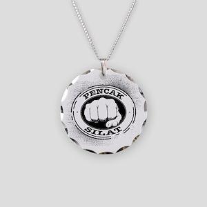 2 pencak silat Necklace Circle Charm