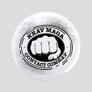 "3 Krav Maga 3.5"" Button"