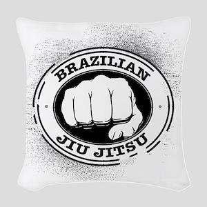 5 BJJ Woven Throw Pillow