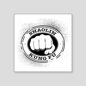 "4 Shaolin Kung Fu Square Sticker 3"" x 3"""