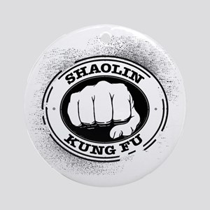 4 Shaolin Kung Fu Round Ornament