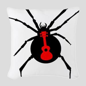 Ukulele Spider Woven Throw Pillow