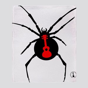 Ukulele Spider Throw Blanket