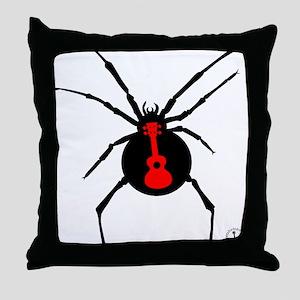 Ukulele Spider Throw Pillow