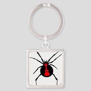 Ukulele Spider Square Keychain