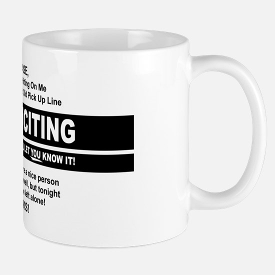No soliciting button Mug