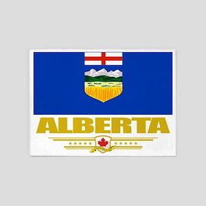 Alberta Flag (Flag 10) 5'x7'Area Rug