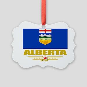 Alberta Flag (Flag 10) Picture Ornament
