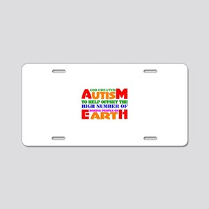 Autism Aluminum License Plate