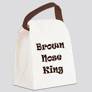 Brown nose Canvas Lunch Bag