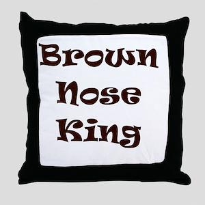Brown nose Throw Pillow