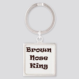 Brown nose Square Keychain