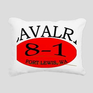 8th Squadron 1st Cav Cap Rectangular Canvas Pillow