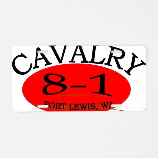 8th Squadron 1st Cav Cap2 Aluminum License Plate