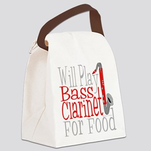 Will Play Bass Clarinet dark Canvas Lunch Bag