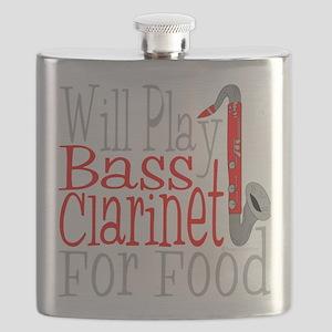 Will Play Bass Clarinet dark Flask