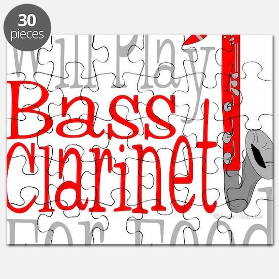 Will Play Bass Clarinet dark Puzzle
