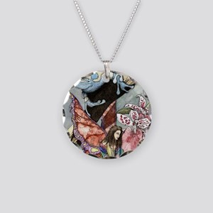 frogflowersfairy copy Necklace Circle Charm