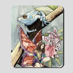 frogflowersfairy copy Mousepad