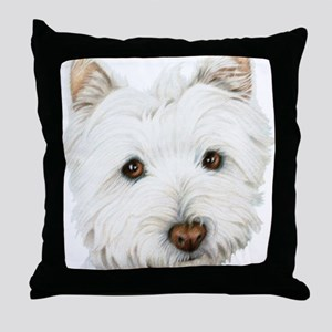 Cute West Highland White Terrier Dog Throw Pillow