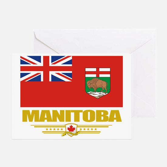 Manitoba Flag (Flag 10) Greeting Card