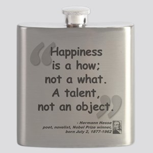Hess Happiness Quote Flask